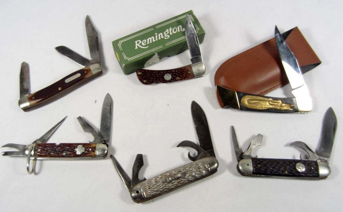 7: LOT OF 6 VINTAGE POCKET KNIVES