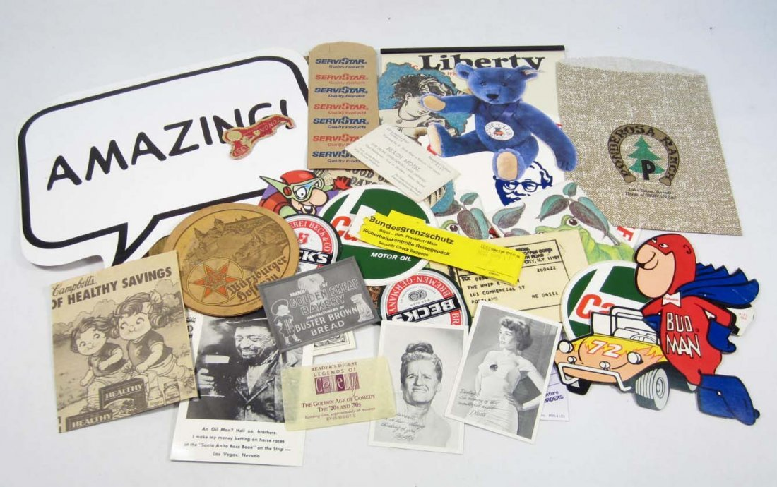 13: LOT OF VINTAGE EPHEMERA - INCL. ADVERTISING