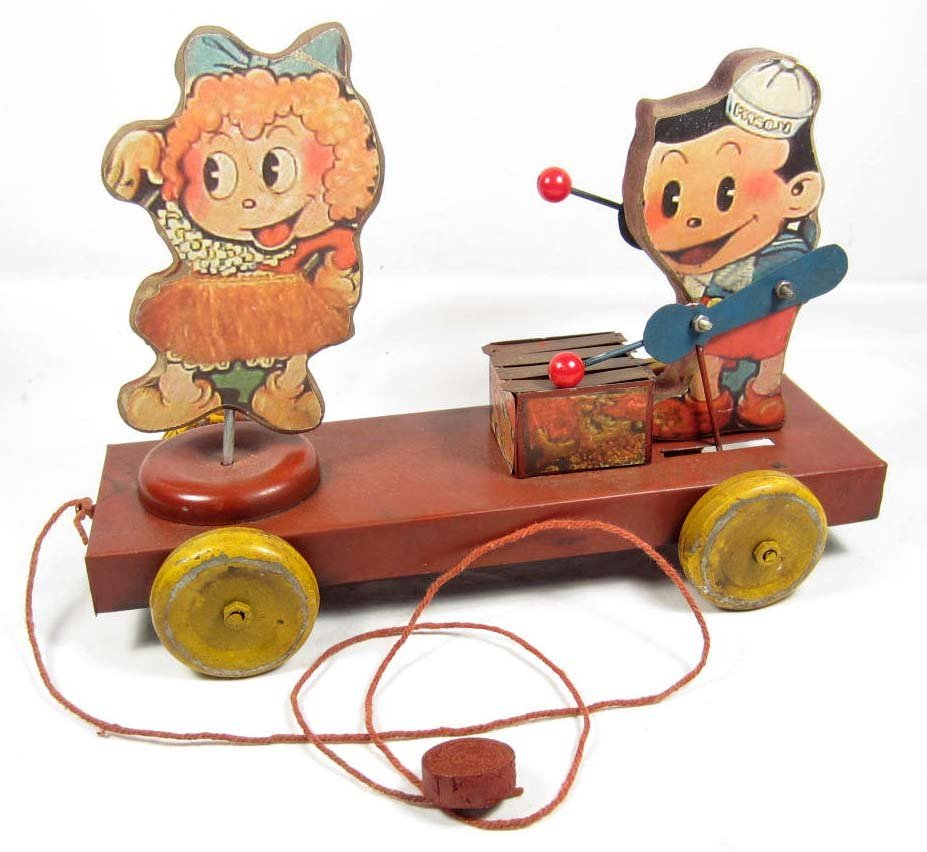 14: VINTAGE TIN CHILD'S PULL TOY