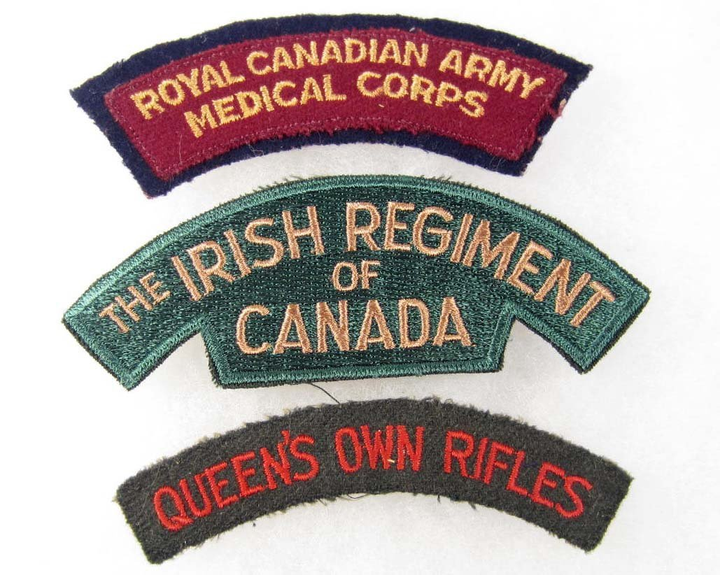 17: LOT OF 3 CANADIAN MILITARY PATCHES