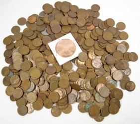 LOT OF APPROX. 3.5 LBS OF WHEAT CENTS