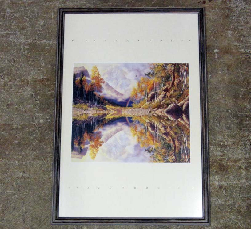 "103: ""WILDERNESS"" FRAMED AND MATTED ART PRINT BY BEV DO"