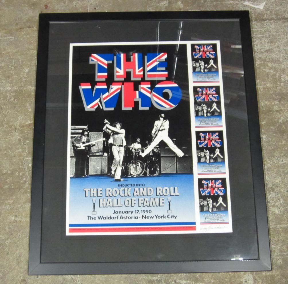 "121: 1989 ""THE WHO"" ROCK & ROLL HALL OF FAME POSTER - F"