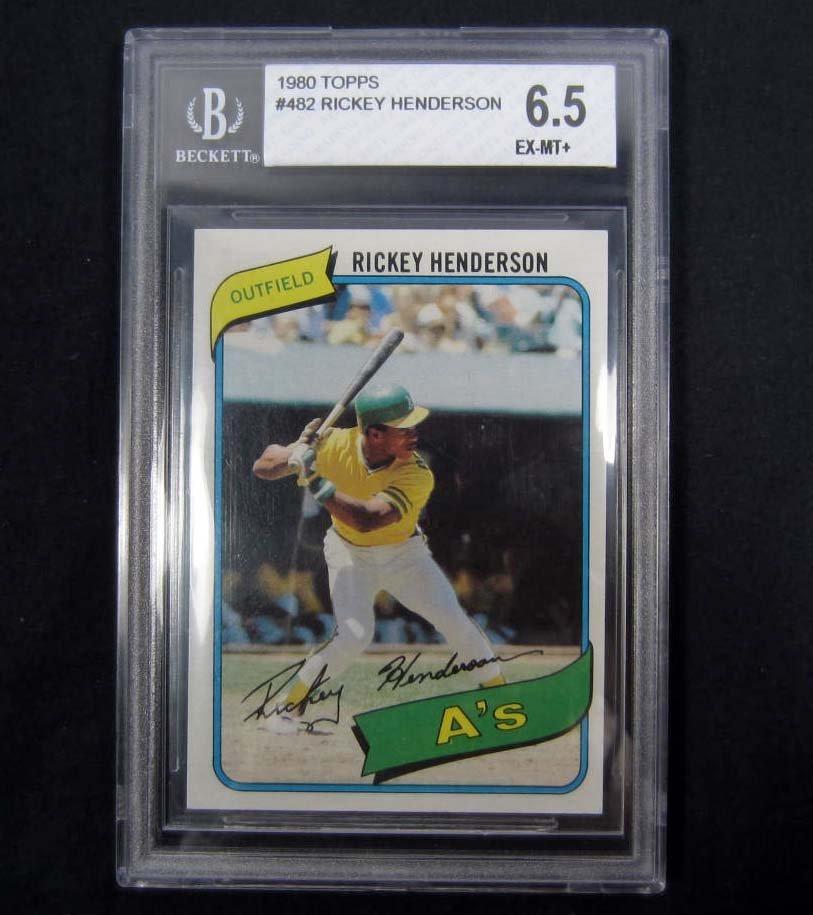 4: 1980 TOPPS NO. 482 RICKEY HENDERSON BASEBALL CARD -