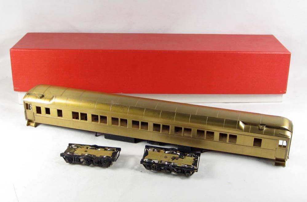 8: BRASS PULLMAN RIVERDALE SLEEPER RAILROAD TRAIN IN OR