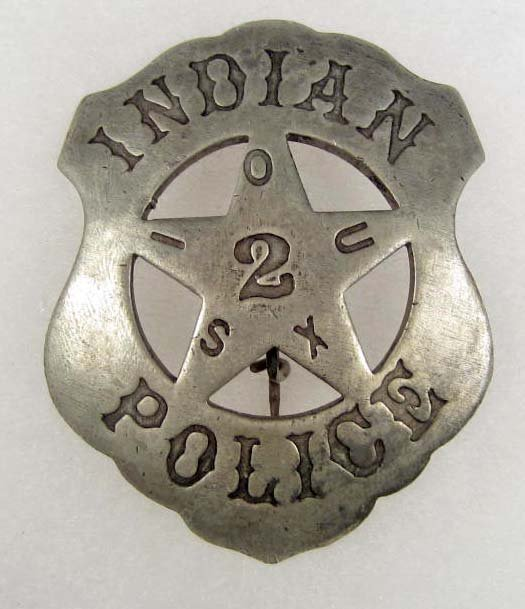 3: OLD WEST SIOUX INDIAN POLICE NO. 2 COWBOY ERA LAW BA