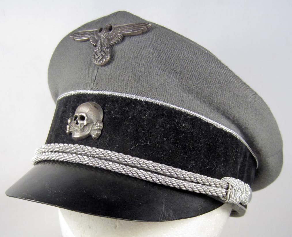 100: RARE GERMAN NAZI WAFFEN SS GENERALS VISOR CAP