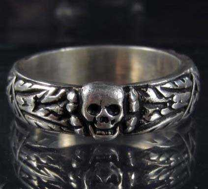228 GERMAN NAZI WAFFEN SS OFFICERS HONOR SKULL RING