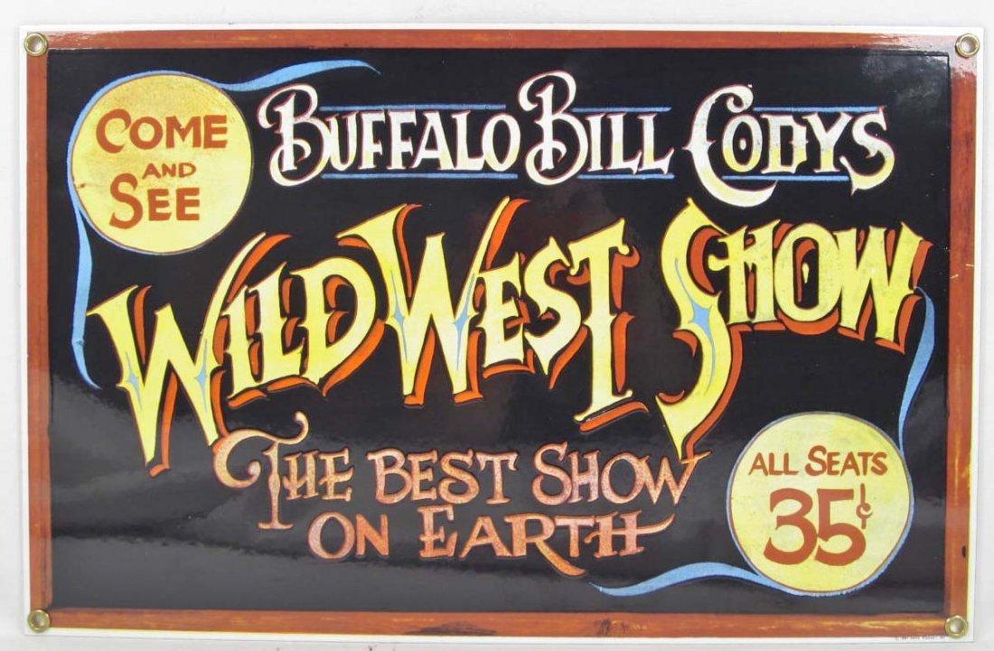 8: BUFFALO BILL CODYS WILD WEST SHOW PORCELAIN ADVERTIS