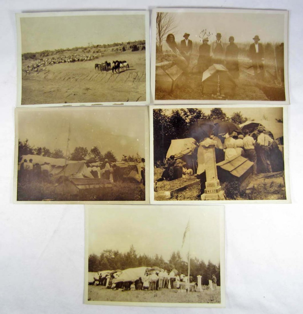16: LOT OF 5 C. 1911 HARMAN PHOTOS OF A NATIVE AMERICAN