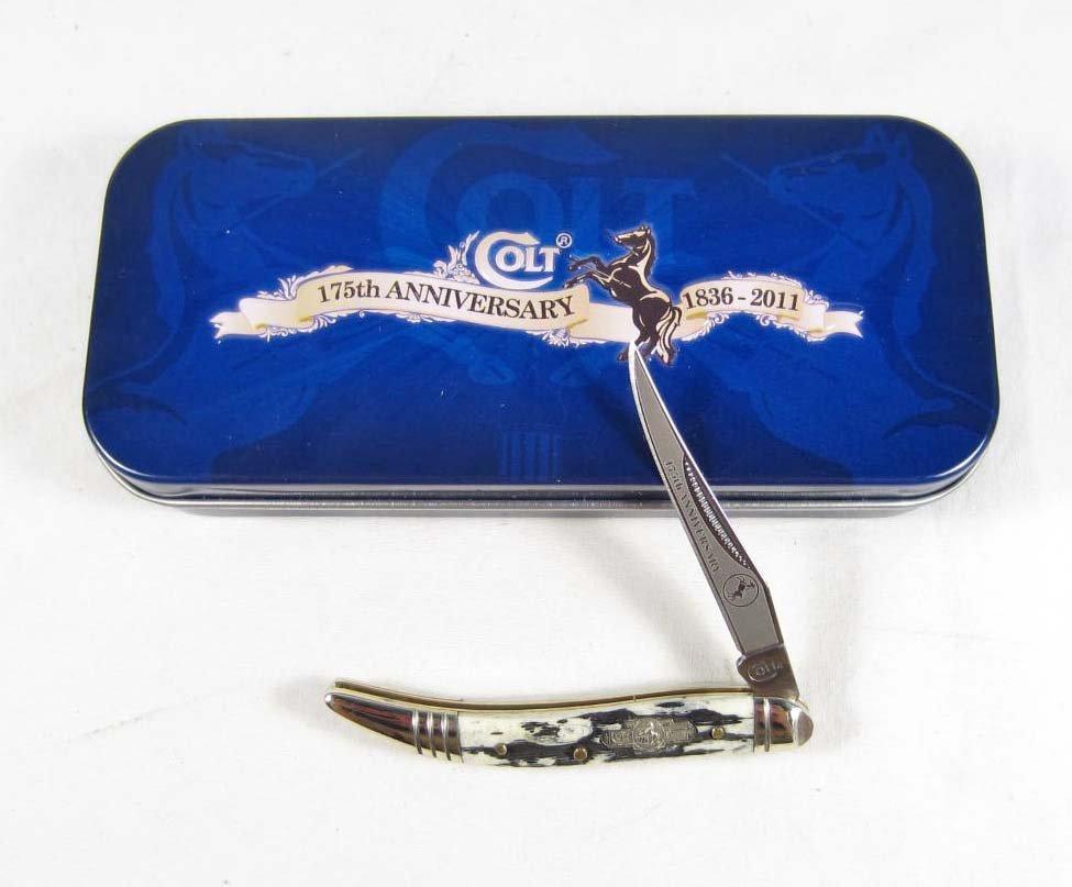 24: COLT 175TH ANNIVERSARY MINI TOOTHPICK KNIFE W/ STAG