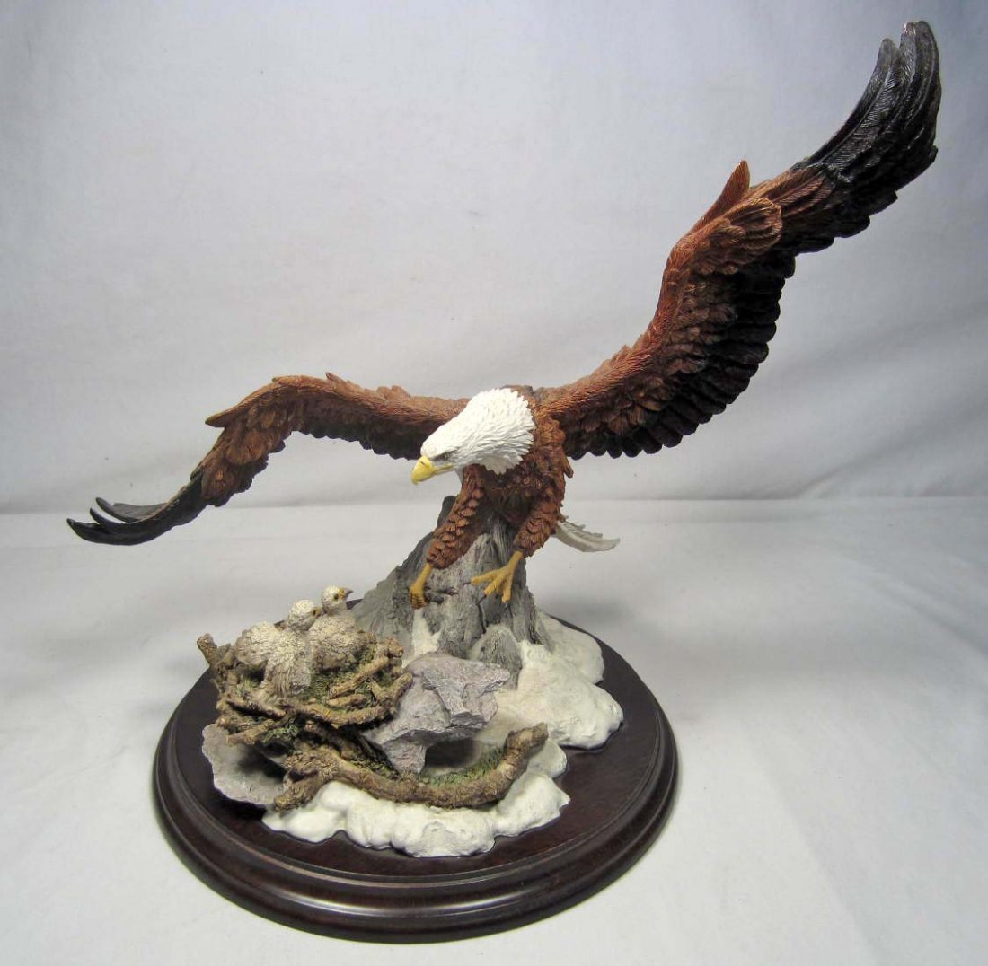 "4: LIMITED EDITION ""REMOTE HEIGHTS"" EAGLE SCULPTURE - S"