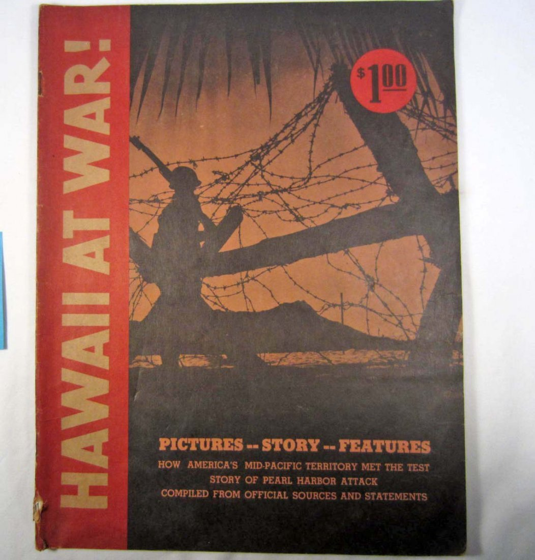 "12: 1942 ""HAWAII AT WAR!"" PICTORIAL SOFT COVER BOOK"