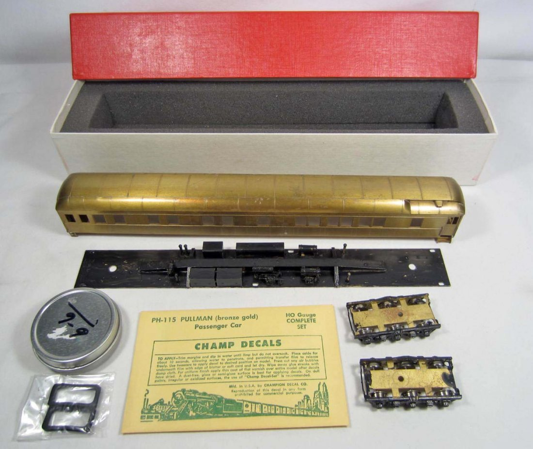 24: S. SOHO & CO PULLMAN BRASS RAILROAD TRAIN CAR IN OR