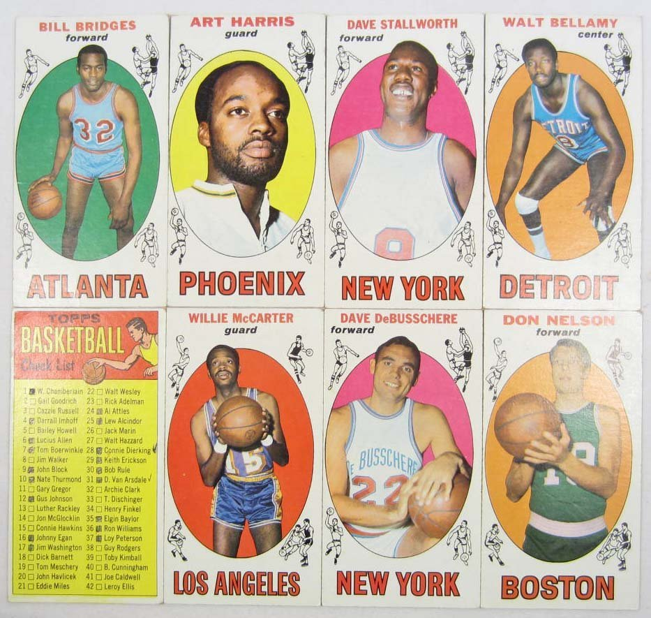 3: LOT OF 8 1969-70 TOPPS BASKETBALL CARDS