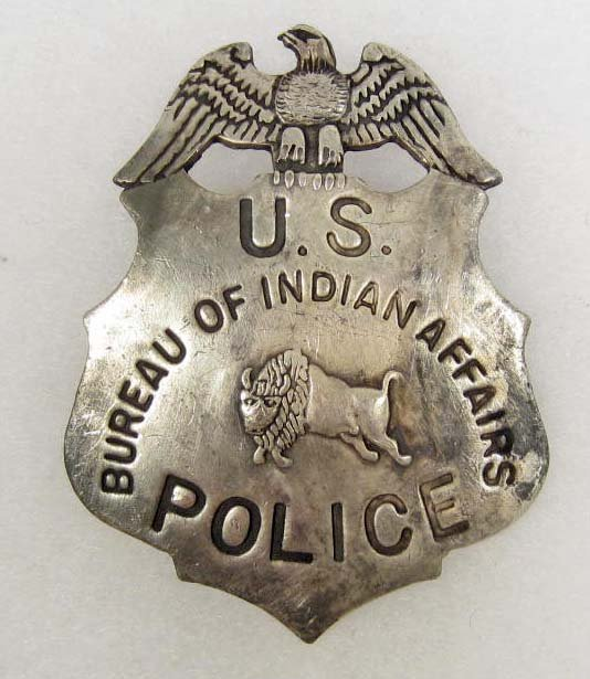 bureau of indian affairs u s police badge