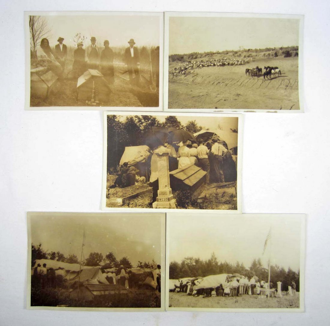 12: LOT OF 5 C. 1911 HARMAN PHOTOS OF A NATIVE AMERICAN