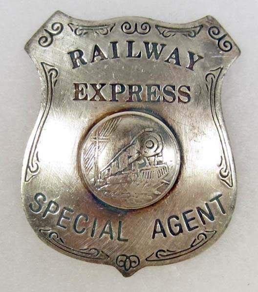 21: RAILWAY EXPRESS SPECIAL AGENT BADGE