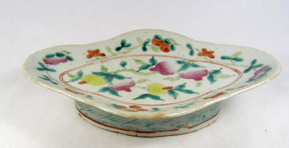 8A: EARLY CHINESE POTTERY FLUTED SERVING DISH