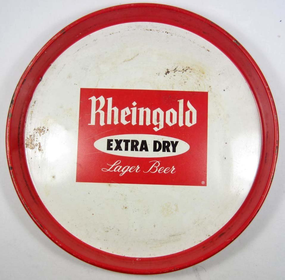 11: RHEINGOLD LAGER BEER ADVERTISING TRAY