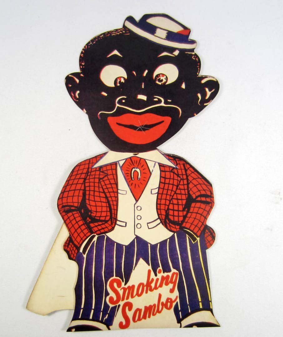 16: BLACK AMERICANA SMOKING SAMBO CIGARETTE FIRECRACKER