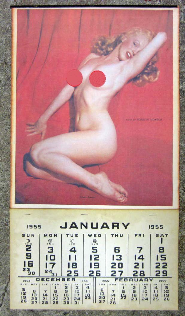 18: MARILYN MONROE GOLDEN DREAMS RISQUE PIN-UP CALENDAR