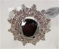 264A: 14K WHITE GOLD LADIES DIAMOND RING - SIZE 6.5