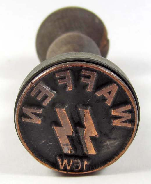 2: GERMAN NAZI WAX SEAL / RUBBER STAMP W/ WOOD HANDLE