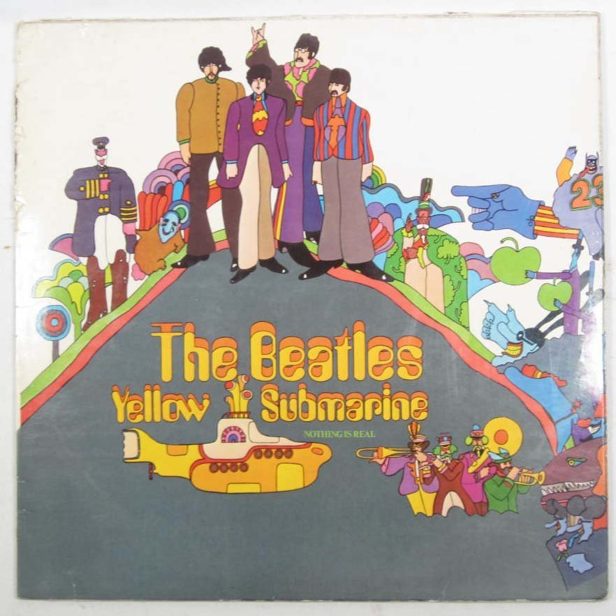 4: VINTAGE BEATLES YELLOW SUBMARINE RECORD