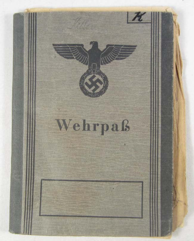 7: GERMAN NAZI ARMY WEHRPASS TO A SOLDIER IN A PANZER G
