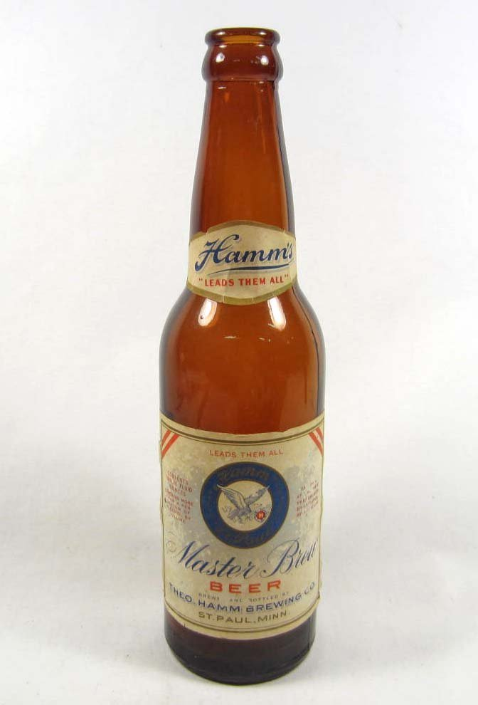18: VINTAGE HAMMS BEER BOTTLE