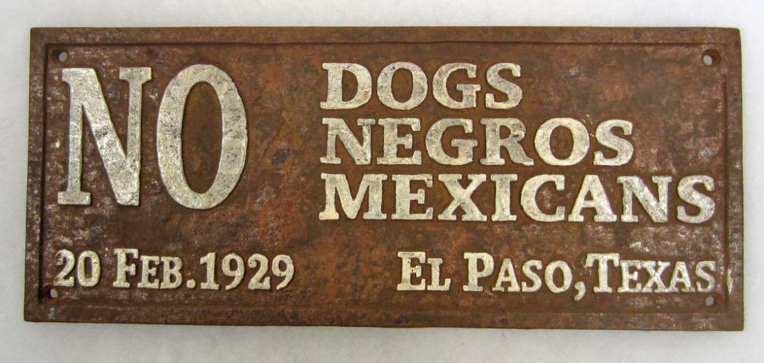 Image result for no dogs or mexicans