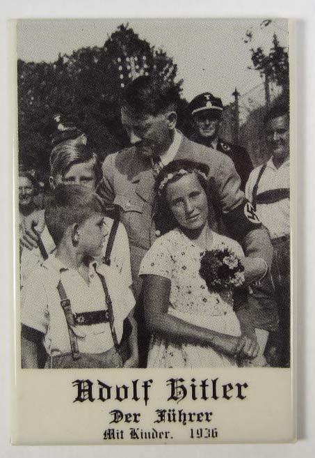 9: GERMAN NAZI DICTATOR ADOLF HITLER CELLULOID MIRROR