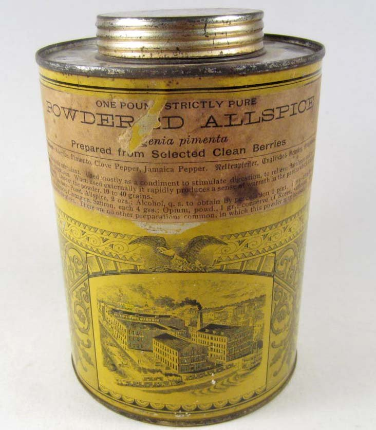 19: VINTAGE POWDERED ALL SPICE ADVERTISING TIN
