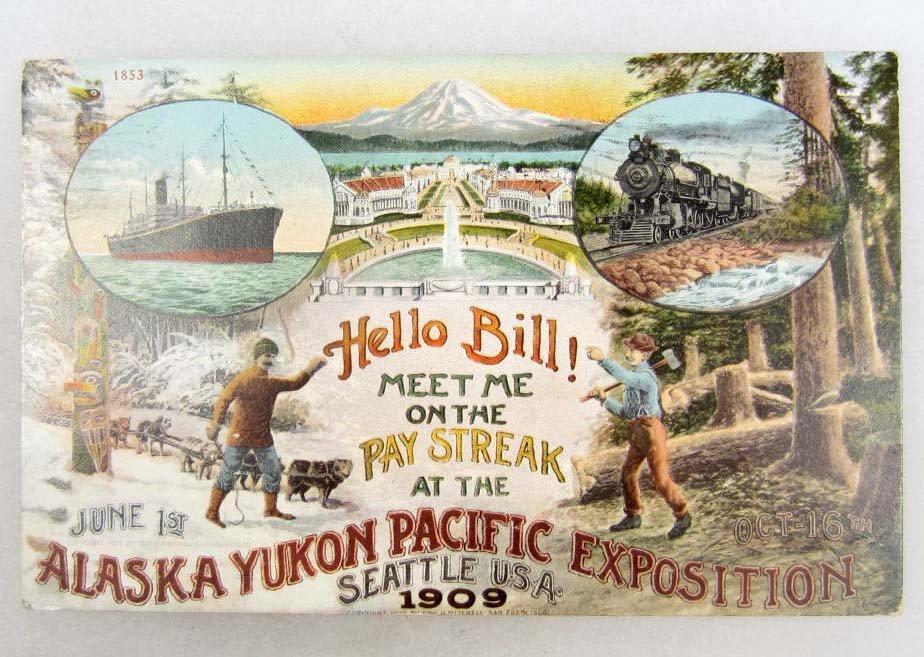 24: 1909 ALASKA YUKON PACIFIC EXPOSITION POSTCARD