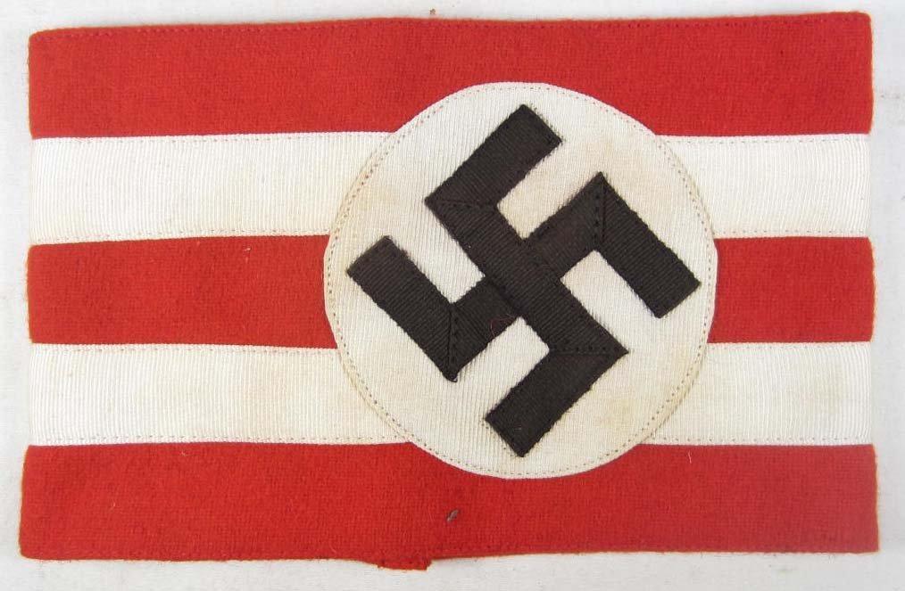 317: GERMAN NAZI POLITICAL NSDAP HIGH LEADER ARM BAND
