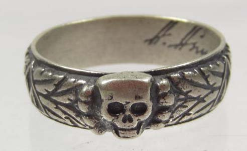 2: GERMAN NAZI WEDDING RING MARKED H. HIMMLER SIZE 14