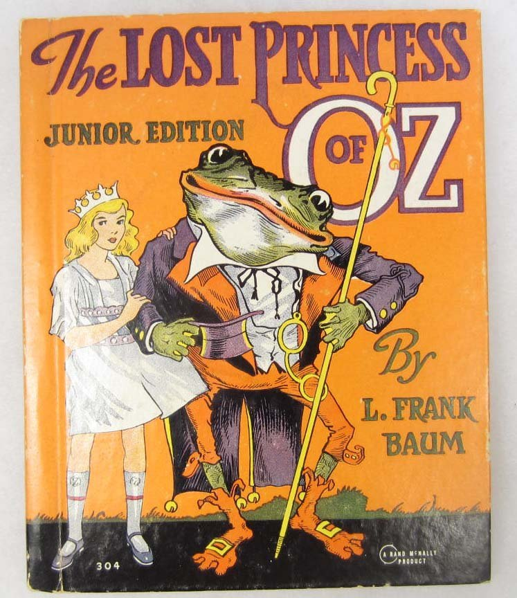 "4: 1939 ""LOST PRICESS OF OZ"" HARDCOVER BOOK BY L. FRANK"
