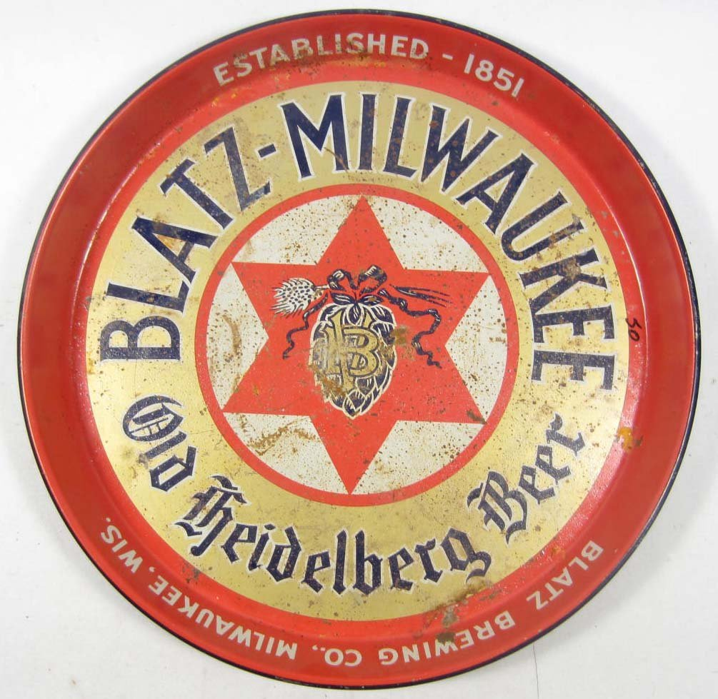 23: C. 1940'S BLATZ - MILWAUKEE OLD HEIDELBERG BEER ADV