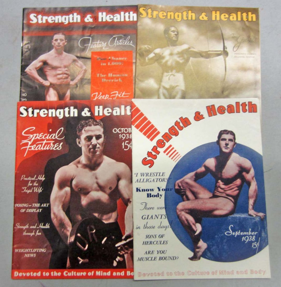 3: LOT OF 4 1938 STRENGTH AND HEALTH MAGAZINES
