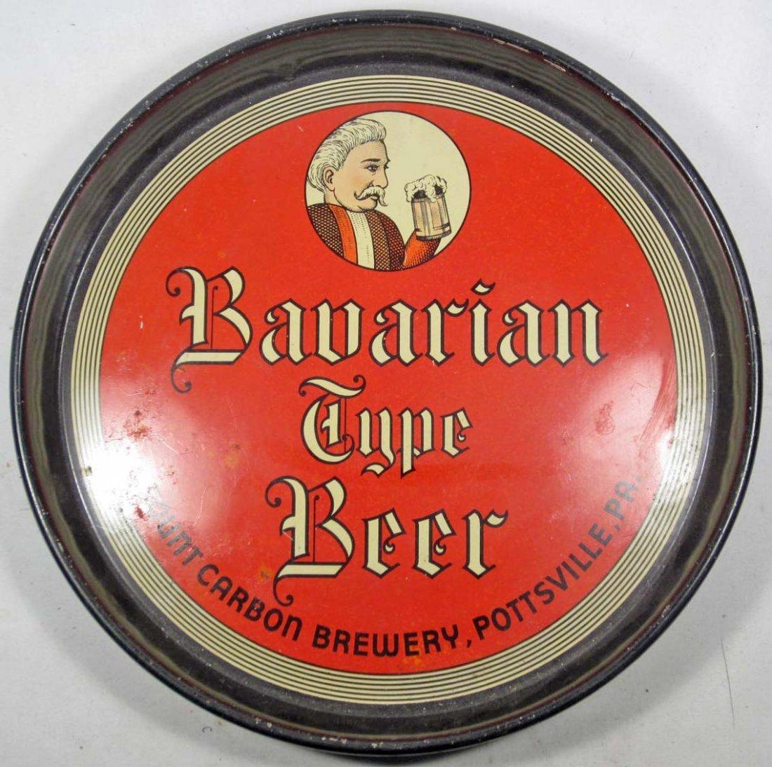 4: VINTAGE BAVARIAN TYPE BEER ADVERTISING TRAY