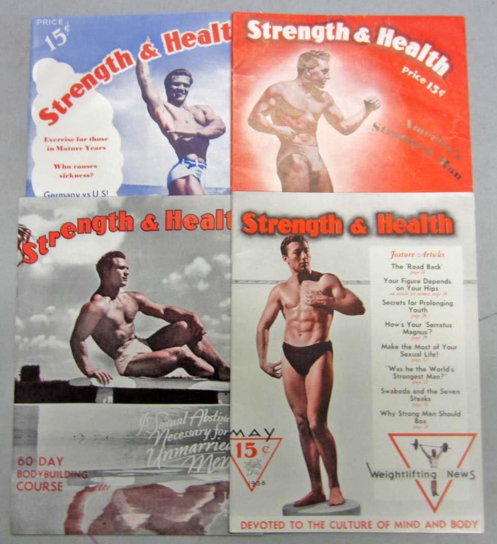 20: LOT OF 4 1938 STRENGTH & HEALTH MAGAZINES