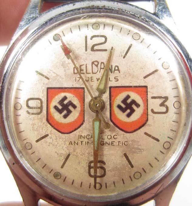 142: GERMAN NAZI 17 JEWEL WRIST WATCH - 3