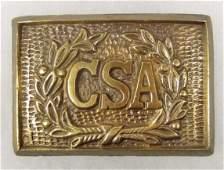 247 CSA CONFEDERATE BRASS BELT BUCKLE