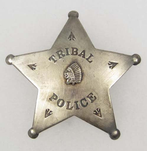 1: 10777 - INDIAN TRIBAL POLICE LAW BADGE