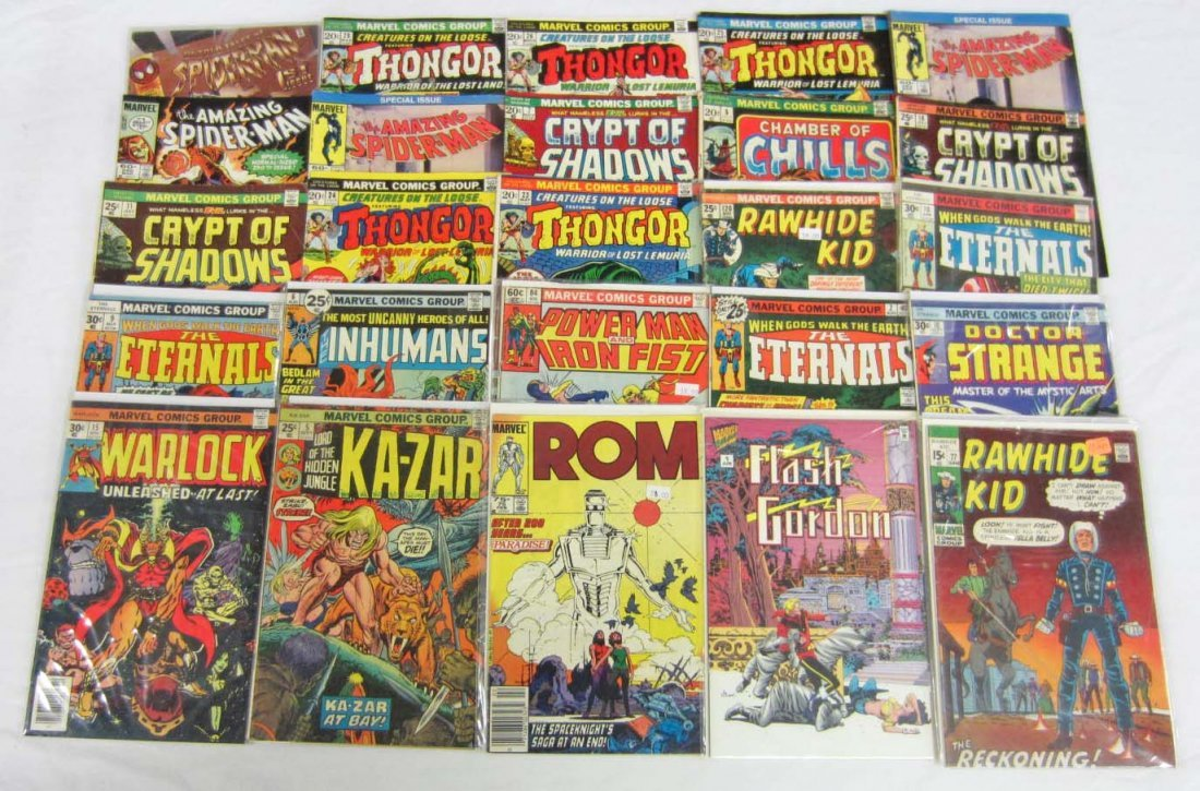 8: LOT OF APPROX. 26 VINTAGE MARVEL COMIC BOOKS - INCL.