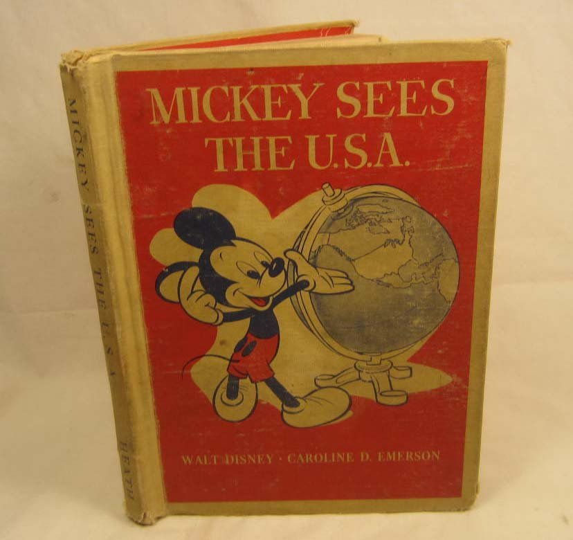 "15: 1944 ""MICKEY SEES THE U.S.A."" WALT DISNEY HARDCOVER"