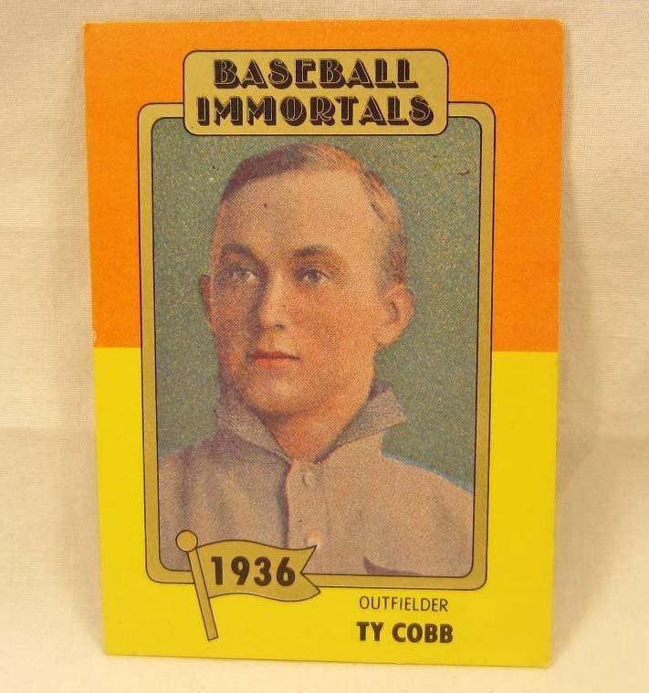 505 2585 Baseball Immortals Ty Cobb 2 Baseball Card