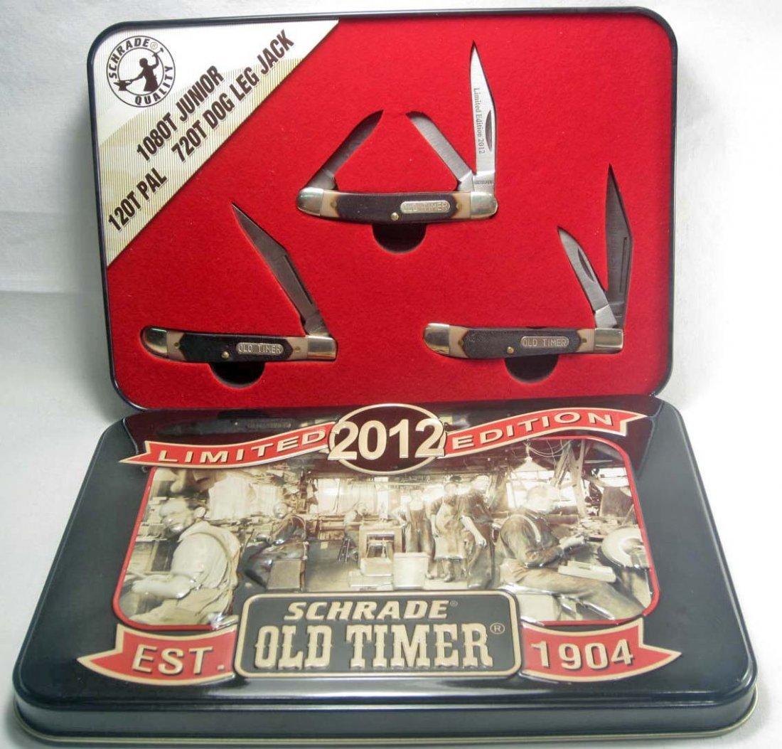 3: SCHRADE OLD TIMER POCKET KNIFE LIMITED EDITION SET
