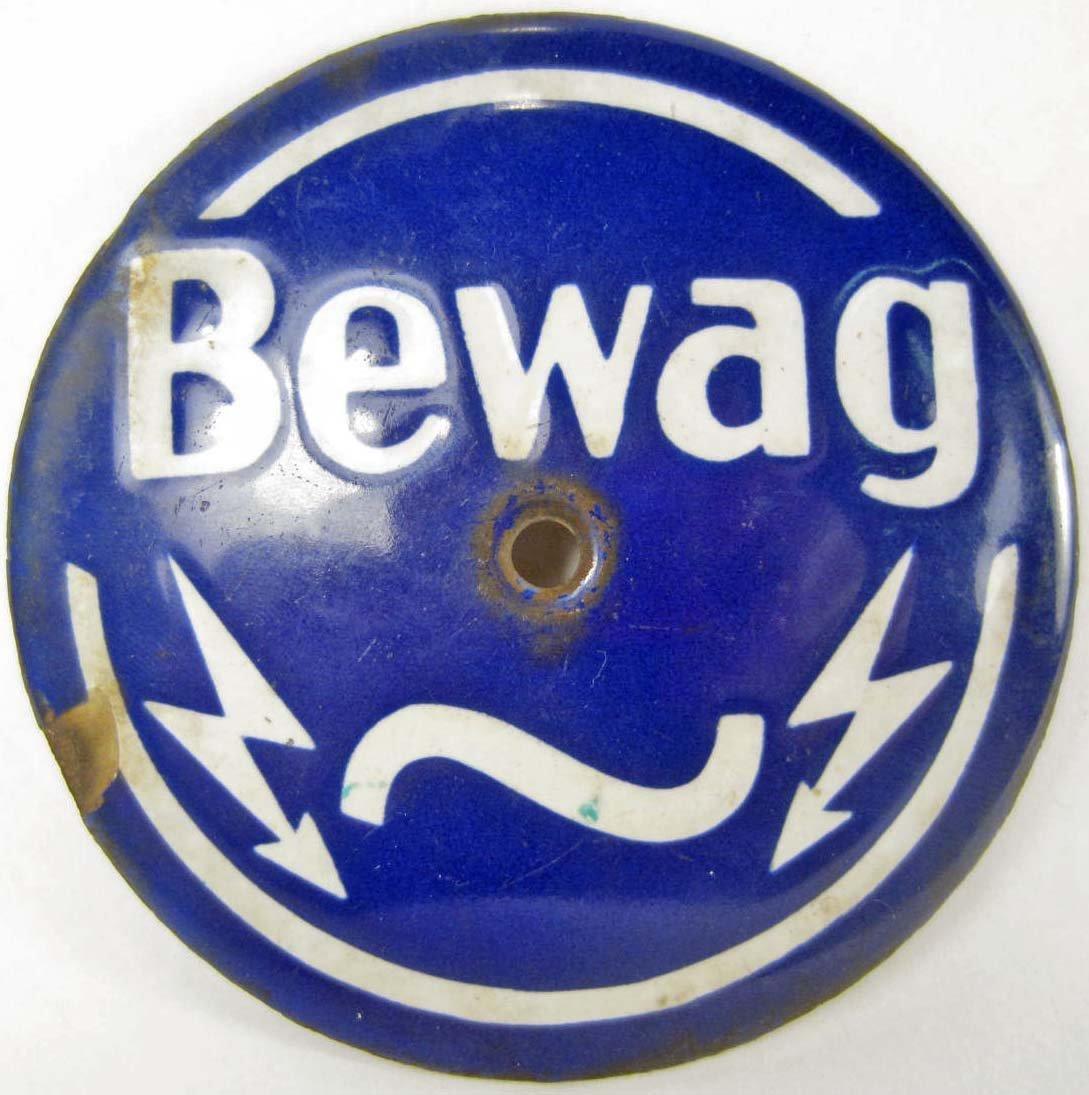 9: GERMAN BEWAG ELECTRIC COMPANY PORCELAIN SIGN